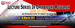 Lecture Series in Operations Research 2017