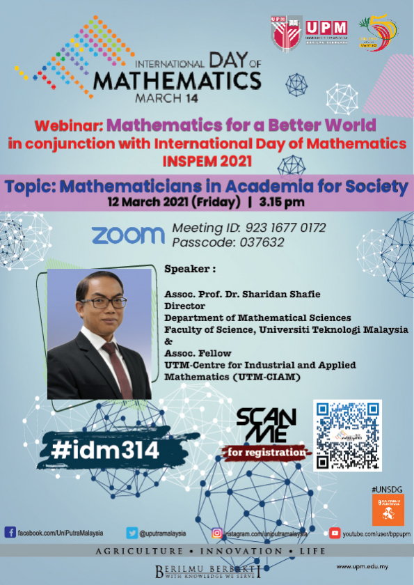 INSPEM's Webinar Mathematics for a Better World in conjunction with International Day of Mathematics 2021